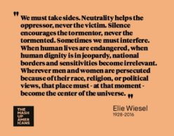 Elie Wiesel on not being neutral