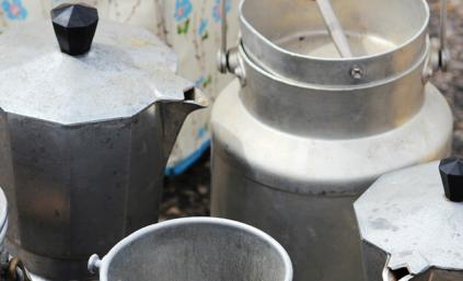 Several Moka coffee pots