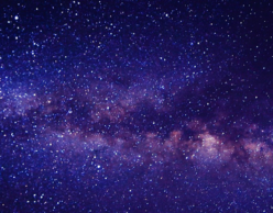 Outer-space image colored purple and pink